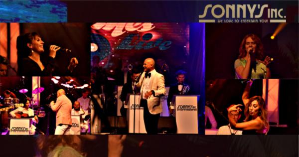 Feest in Hangaar 2 met tropisch thema - Sonny's Inc - De Entertainmentband van Nederland -