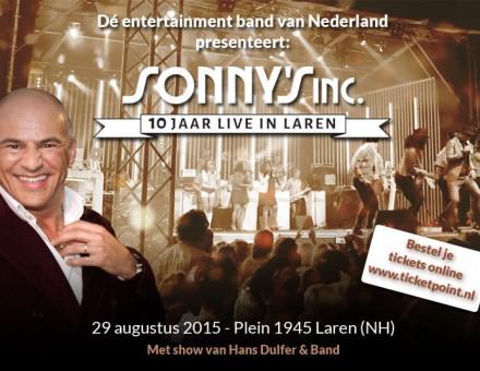 10 jaar Sonny's Inc. live in laren