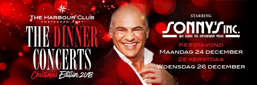 The Harbour Club kerstavond en tweede kerstdag met Sonny's Inc.