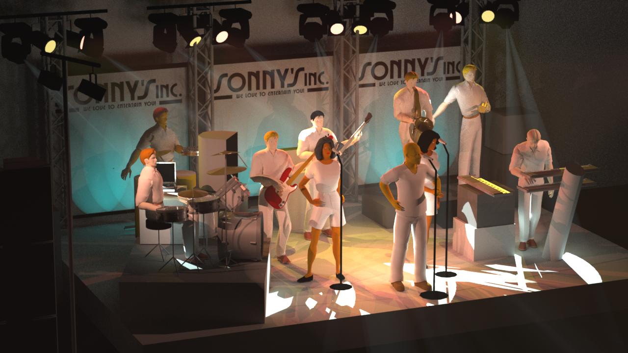 Opstelling Sonny's Inc. met Sonny's Angels